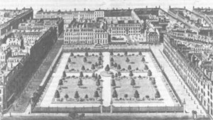Leicester Square in 1750