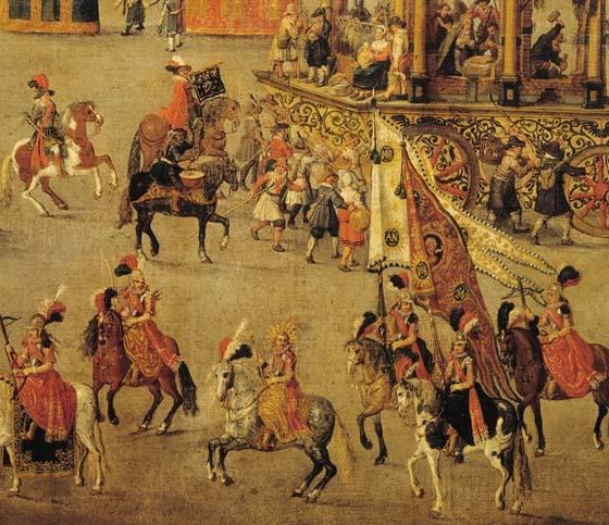 Van Asloot, The Ommeganck in Brussels on 31 May 1615
